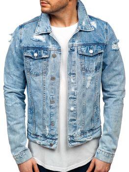 Куртка джинсовая мужская синяя Bolf AK580
