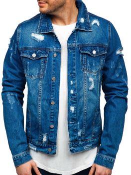 Куртка джинсовая мужская темно-синяя Bolf AK580