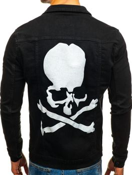 Куртка джинсовая мужская черная Bolf 2052