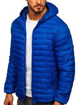 Куртка мужская демисезонная стеганая cиняя Bolf LY35