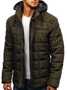 Куртка мужская зимняя зеленая Bolf 1820