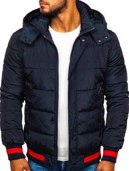 Куртка мужская зимняя спортивная темно-синяя Bolf JK393