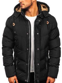 Куртка мужская зимняя стеганая черная Bolf 1664