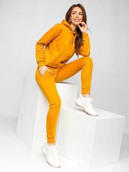 Кэмел женский спортивный костюм с капюшоном Bolf 0002