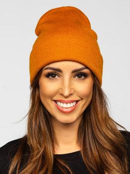 Кэмел зимняя женская шапка YW09004