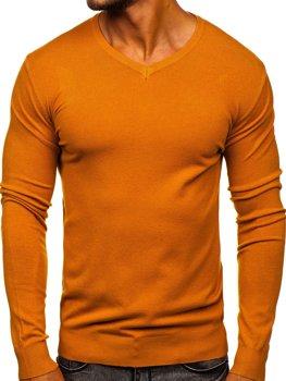Кэмел мужской свитер с V-образным вырезом Bolf  YY03