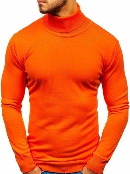 Мужская водолазка оранжевая Bolf 2400