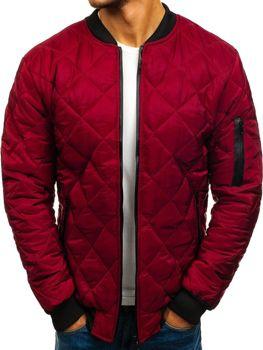 Мужская демисезонная куртка бомберсветло-бордовая Bolf AK76-A
