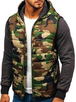 Мужская демисезонная куртка камуфляж-салатовая Bolf 3757