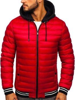 Мужская демисезонная куртка красная Bolf 5331