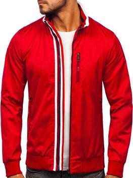 Мужская демисезонная куртка красная Bolf K01