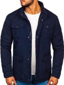 Мужская демисезонная куртка темно-синяя Bolf 1850