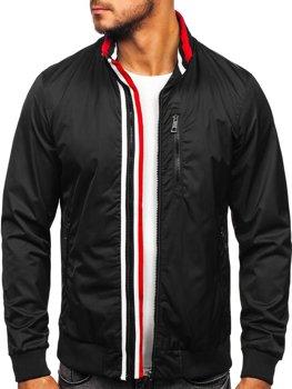 Мужская демисезонная куртка черная Bolf K01