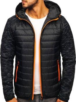 Мужская демисезонная куртка черная Bolf TY28
