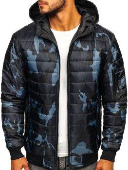 Мужская демисезонная спортивная куртка камуфляж-графитовая Bolf MY13M-A