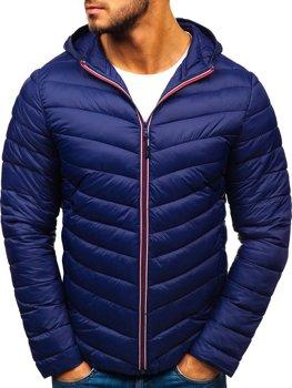 Мужская демисезонная спортивная куртка темно-синяя Bolf LY1016