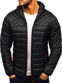 Мужская демисезонная спортивная куртка черная Bolf LY1010