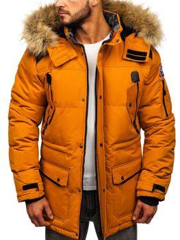 Мужская зимняя куртка кэмел Bolf 5948