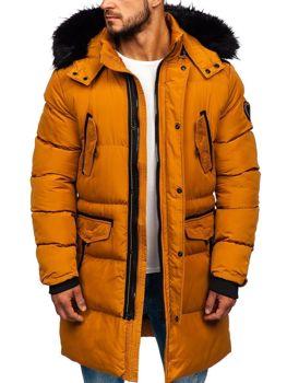 Мужская зимняя куртка парка кэмел Bolf 5837