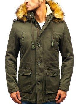 Мужская зимняя куртка парка хаки Bolf 88709