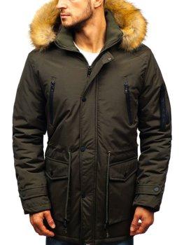 Мужская зимняя куртка парка хаки Bolf R102