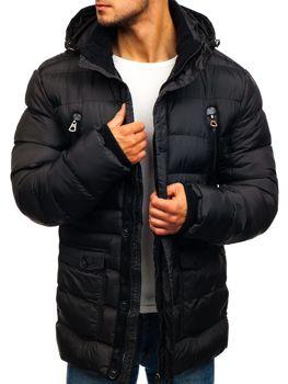 Мужская зимняя куртка черная Bolf 48884