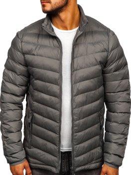 Мужская зимняя спортивная куртка графитовая Bolf SM70