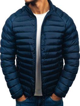 Мужская зимняя спортивная куртка темно-синяя Bolf SM53-A