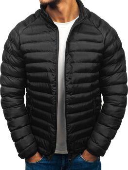 Мужская зимняя спортивная куртка черная Bolf SM53-A
