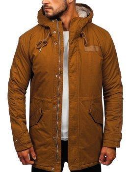 Мужская куртка зимняя парка кэмел Bolf EX838