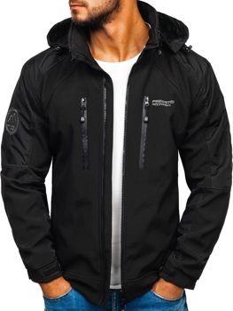 Мужская куртка софтшелл черная Bolf P06