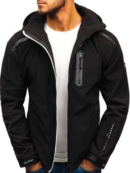 Мужская куртка софтшелл черно-серая Bolf A5526