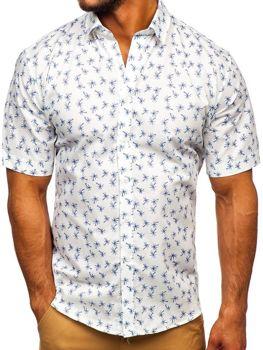 Мужская рубашка с узором с коротким рукавом мультиколор-1 Bolf TSK101