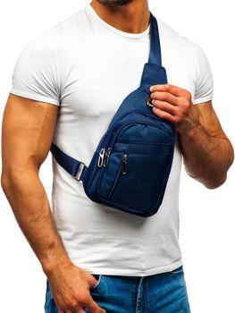 Мужская сумка почтальонка темно-синяя Bolf T50