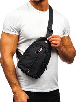Мужская сумка почтальонка черная Bolf T46