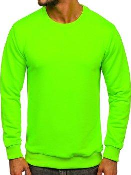 Мужская толстовка без капюшона зеленый-неон Bolf 171715