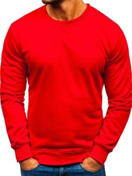 Мужская толстовка без капюшона красная Bolf 22003