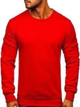 Мужская толстовка без капюшона красная Bolf BO-01