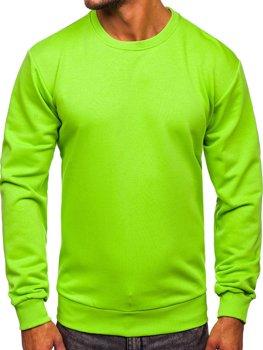 Мужская толстовка без капюшона светло-зеленая Bolf 171715