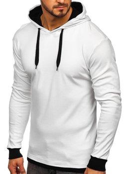Мужская толстовка с капюшоном белая Bolf 145380