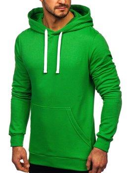 Мужская толстовка с капюшоном зеленая Bolf 02