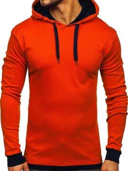 Мужская толстовка с капюшоном оранжевая Bolf 145380