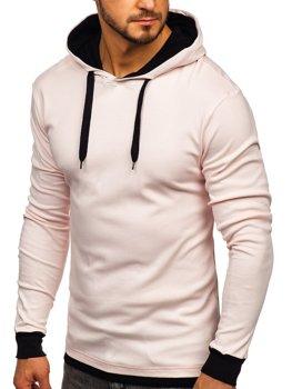 Мужская толстовка с капюшоном светло-розовая Bolf 145380