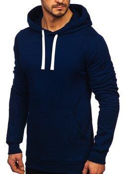 Мужская толстовка с капюшоном темно-синяя Bolf 02