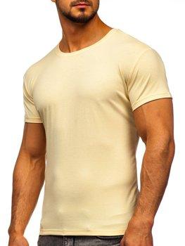 Мужская футболка без печати бежевая Bolf 2005
