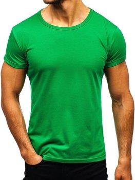 Мужская футболка без принта зеленая Bolf AK999A