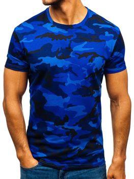 Мужская футболка камуфляж-темно-синяя Bolf S807