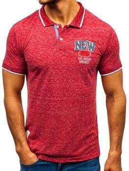 Мужская футболка поло красная Bolf 19240