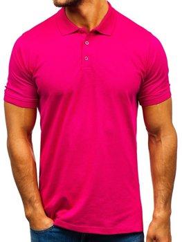 Мужская футболка поло темно-розовая Bolf 9025