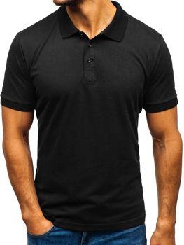 Мужская футболка поло черная Bolf 171221